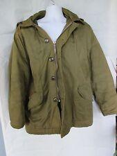 US Military Vintage Jacket Lined Hood  Trim w Zipper-Buttons (U.M.O.D. 1950'S?)
