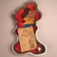 "Vintage Wilton Mickey Mouse Cake Pan 1978 WIth Instructions 17"" Tall Disney Pan"