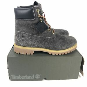Timberland 6-Inch Premium Boots Men's Size 13 Dark Brown Suede A259B