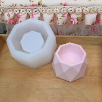 Diamond Shape Flower Pot Concrete Silicone Mold for DIY Candle Holder Mould