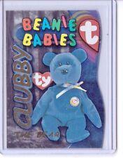 1999 TY BEANIE S3 GOLD! CARD INSERT CLUBBY THE BEAR BABIES SIDE #9990