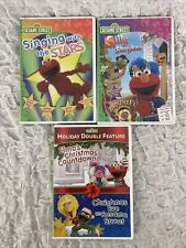 Lot Of 3 Sesame Street DVDS Singing W/ Stars Elmo Christmas Silly Story time
