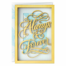 Hallmark Signature Wedding Anniversary Card/Envelope ~ BOLD GOLD