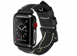 Calf Skin Apple Watch Leather Band- Apple Watch Series 1, 2, 3, 4 & 5 42/44mm