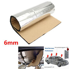6mm Aluminum Foil Car Floor Hood Firewall Mat Deadening Noise Heat Insulation 1x