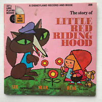 Disney The Story Of Little Red Riding Hood Record & Book 1978