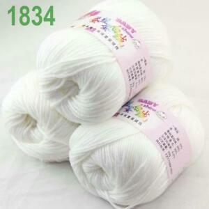 Sale 3 Balls x 50g DK Baby Soft Cashmere Silk Wool Hand Knitting Crochet Yarn 34