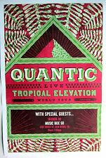 "QUANTIC/WILL HOLLAND""TROPICAL ELEVATION WORLD TOUR""2015 SAN DIEGO CONCERT POSTER"