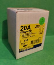Square D Qo2201021 20A 2 pole Shunt Trip Miniature Circuit Breaker 78590149393