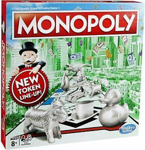 Monopoly Classic Board Game Updated Tokens - New & Sealed