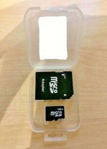 Micro SD Adaptor PLUS 1GB MicroSD Card PLUS Plastic Case