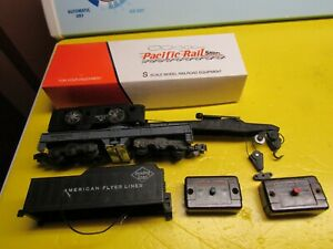 American Flyer 944 Crane - PRR 1993 50' Boxcar Kit and other parts