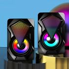 3.5mm USB Wired PC Speaker Bass Stereo Subwoofer With Colorful LED Light