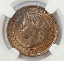CANADA 1 CENT 1894 NGC MS64BN