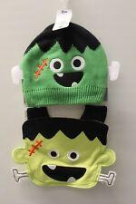 2-SET 18-24M FRANKENSTEIN KNIT HAT & BIB Koala Kids Baby Infant Halloween NEW