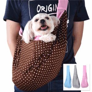 Pet Dog Cat Puppy Sling Carrier Bag Travel Tote Pouch Shoulder Carry Handbag DH