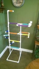 """NEW PVC Parrot Play Gym """"MAX"""" FLOOR PERCH Stand FREE SHIPPING *Birds Love Them"""
