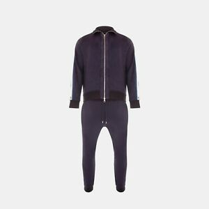 Louis Vuitton Travel Tailored Track Jacket & Track Pants In Navy Blue RRP £2200