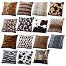 FJ- NE_ Sofa Waist Cushion Cover Animal Zebra Leopard Print Pillow Case Home Dec
