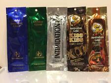 Australian Gold Dark Tan Bronzer Intensifier Indoor Tan 5 Sample Packets LOT B
