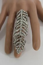 Fashion Ring Bling Tree Fancy Filigree Hot Women Silver Gold Leave Knuckle Metal