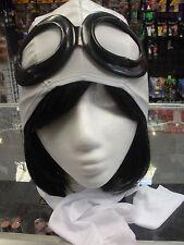Amelia Earhart  Aviator Helmet Goggles & Scarf Set Wax Museum Book Report