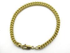 10KT Yellow Gold Diamond Cut Franco Bracelet 4.25mm app. gold weight 10.80 Grams