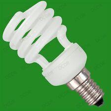 10x 14W Basse Energie CFL Mini Spirale Ampoule; E14, Petite Vis, SES, Stock RU