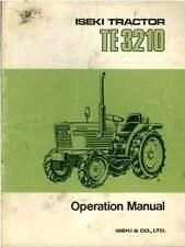 Iseki Tractor TE3210 Operators Manual