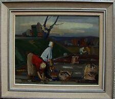 """Karl Einar Jönsson *1895, """"Kartoffelleser, datiert 1954"""