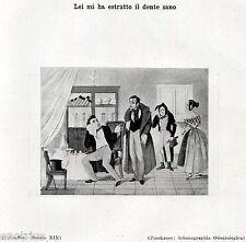 DAL DENTISTA:ESTRAZIONE DEL DENTE SANO.Caricatura.Dentiste.Dentist.Zahnarzt.1929