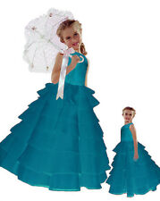 New Flower Girl Wedding Holiday Pageant Layers Dress