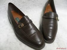 Easy Spirit Brown Leather Loafers 9 N (AA) EC Soft Comfortable Leather