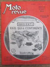 ANCIENNE REVUE MOTO REVUE N° 1087 MAI 1952 RAID INNOCENTI LAMBRETTA