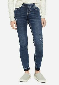 Justice Girls Destructed Pull On Jean Leggings - NEW NWT - b4
