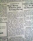 GEORGE 'BUGS' MORAN Chicago Prohibition Era Gangster ARRESTED 1932 Old Newspaper