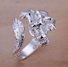 Anillo de dragón 925 Sterling plata PL Shenlong Dragon universal tamaño dedo-Ring