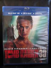 Tomb Raider 3D/2D Blu-ray + Digital HD Sealed New Action Lara Croft Region Free