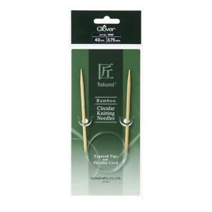 Clover Takumi Japanese Bamboo Circular Knitting Needles - 3.75mm x 40cm $13.95