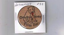 Alaska Wooden Token - ANCHORAGE - Polar Bar - Drinky