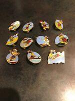 Vintage Rare 1984 LA Olympic lapel hat pins Uncle Sam bird VTG Lot Of 11