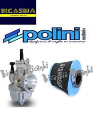 8133 - CARBURATORE POLINI PWK 30 + FILTRO ARIA AIR BOX VESPA 50 SPECIAL R L N