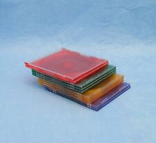 Slim Jewel CD/DVD Case - Lot of 10 Multi Color Green, Purple, Red, Yellow