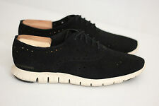 Womens Cole Haan ZeroGrand Wing Oxford - Black Suede - Size 10 B - D44060 (V3)