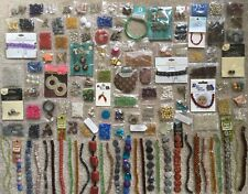 Huge Lot of 125 Strands / Bags of Beads & Jewelry Findings NEW GREAT DEAL!