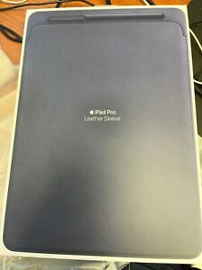 """Apple Leather Sleeve for 12.9"""" inch iPad Pro - Midnight Blue Genuine! New!"""