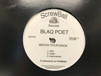 "Blaq Poet Watch Your Back / Bloody Mess 12"" DJ Premier"