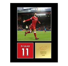 Mo Salah Signed Photo Mount (Pre Printed Autograph) Gift For A Liverpool Fan