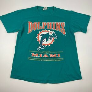 Vintage 1997 Lee Nutmeg Men's L Miami Dolphins T-Shirt NFL Made in USA