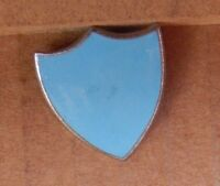 Vintage School Blue House Enamel Badge 1970's